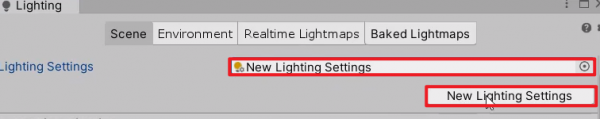 Lighting Settings with New Lighting Settings selected