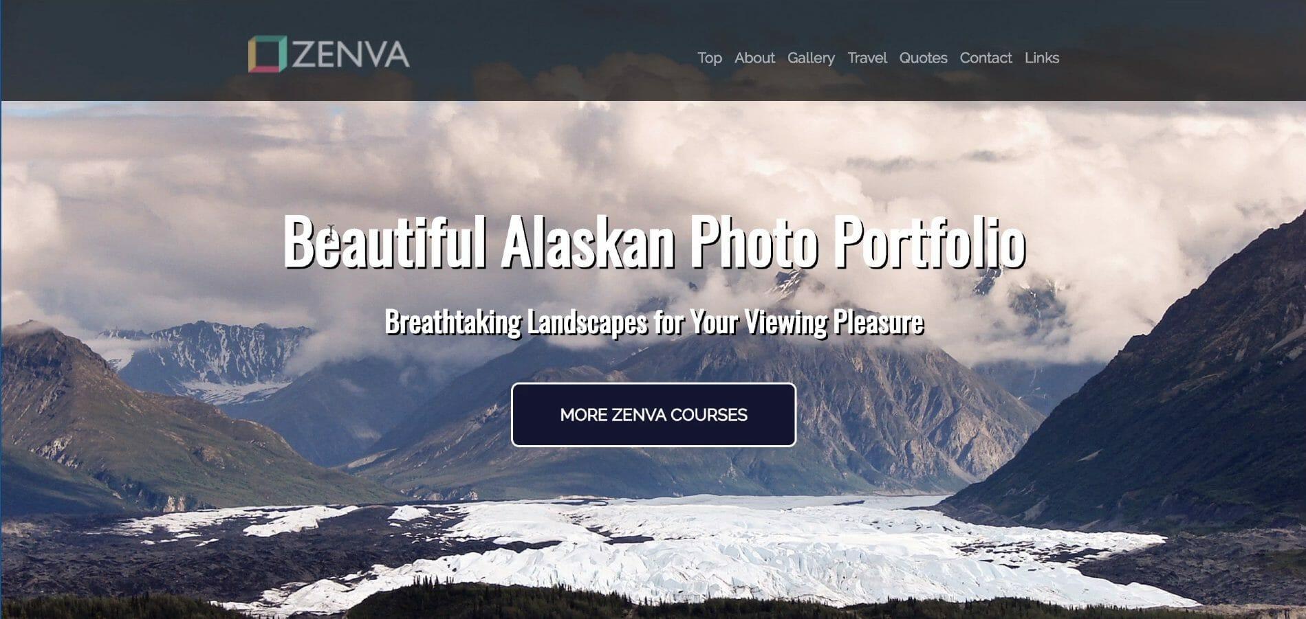 Screenshot of a portfolio website mockup