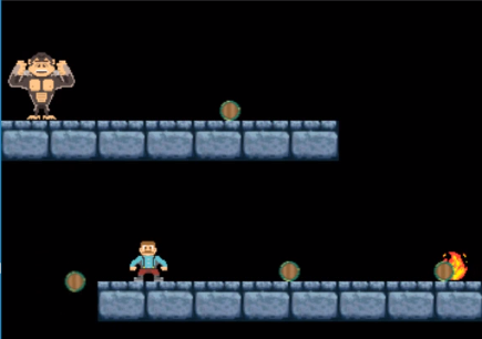 Screenshot of a mario styled platformer made with HTML5