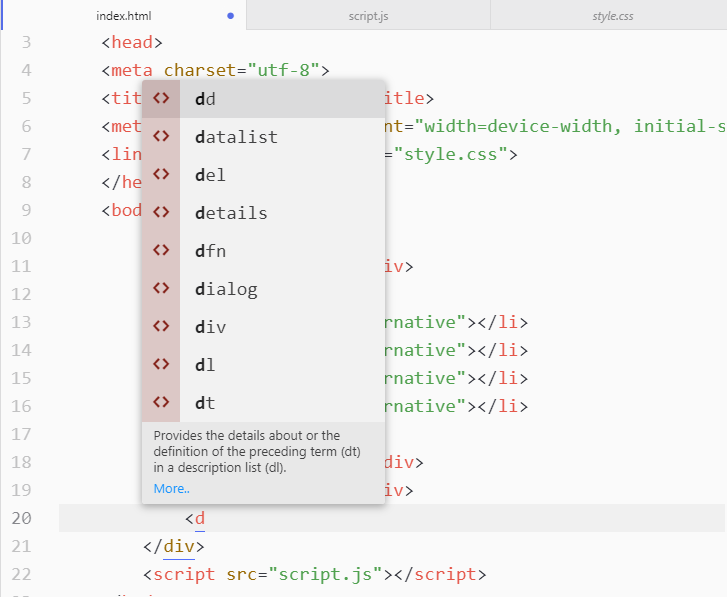 Screenshot of Atom showing the autocompletion feature
