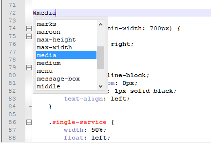 Screenshot of Notepad++ demonstrating the auto-completion feature